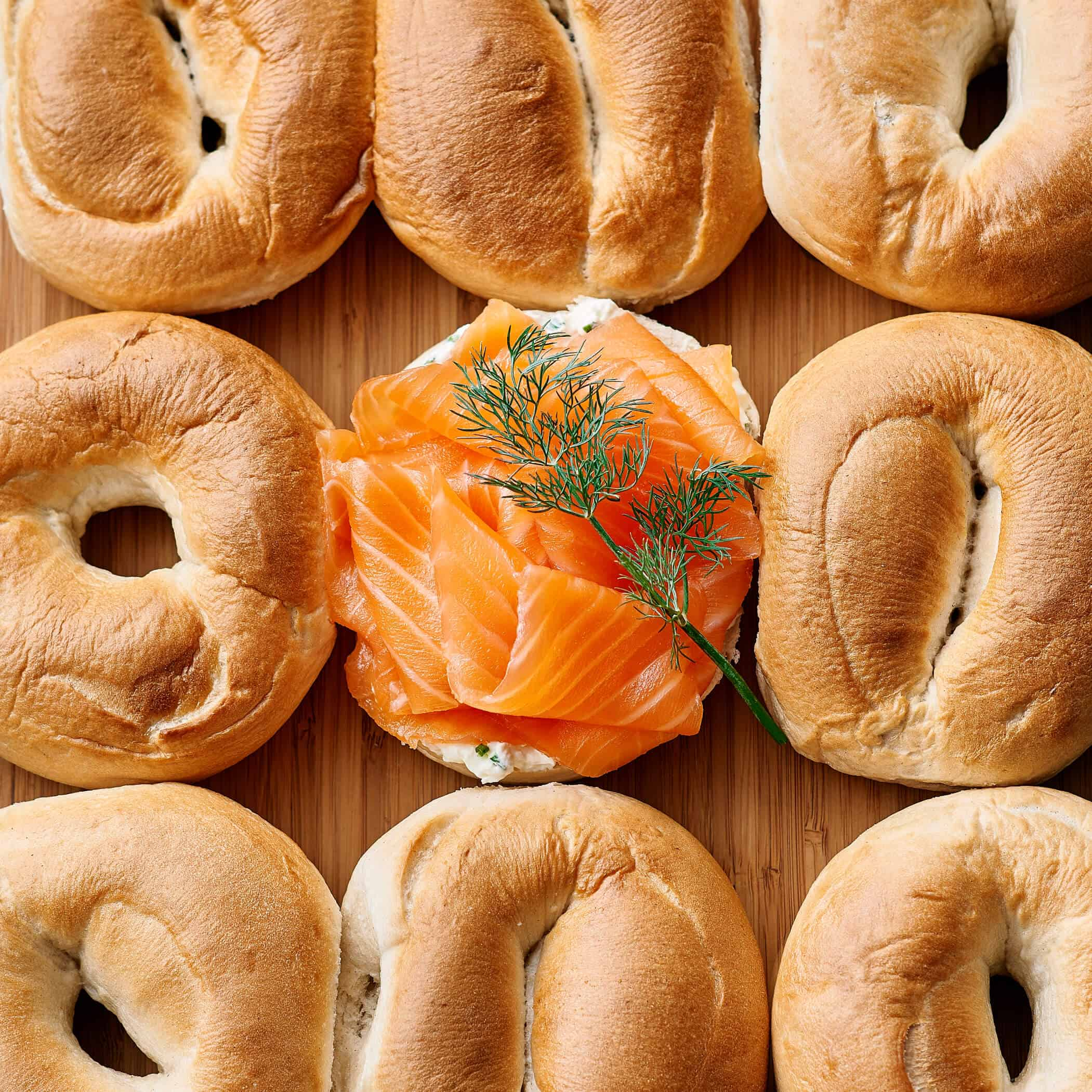 Image of Traditional Smoked Salmon & Cream Cheese Bagel