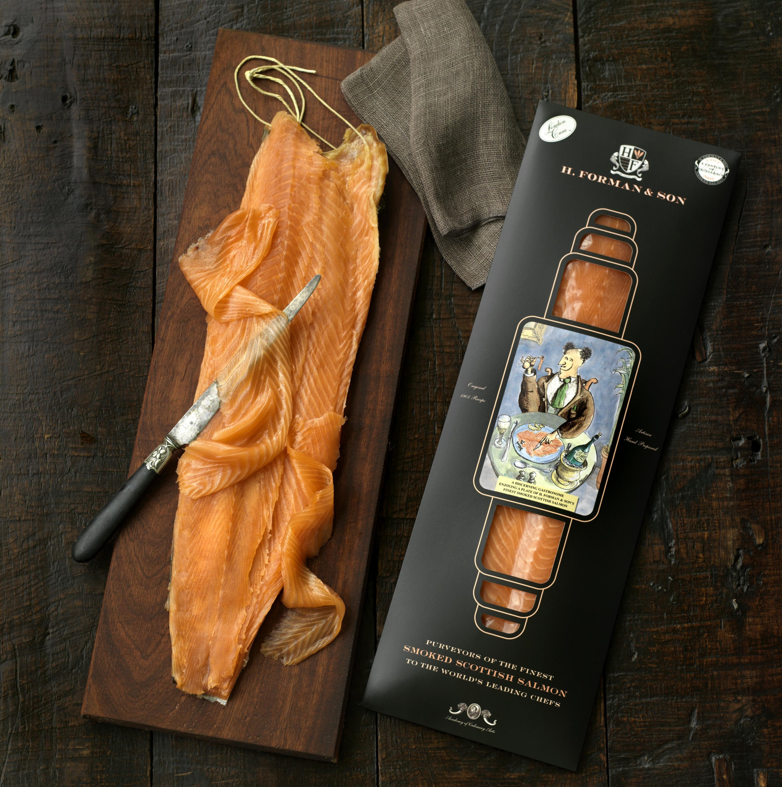 Image of A Side of H. Forman & Son London Cure Smoked Salmon