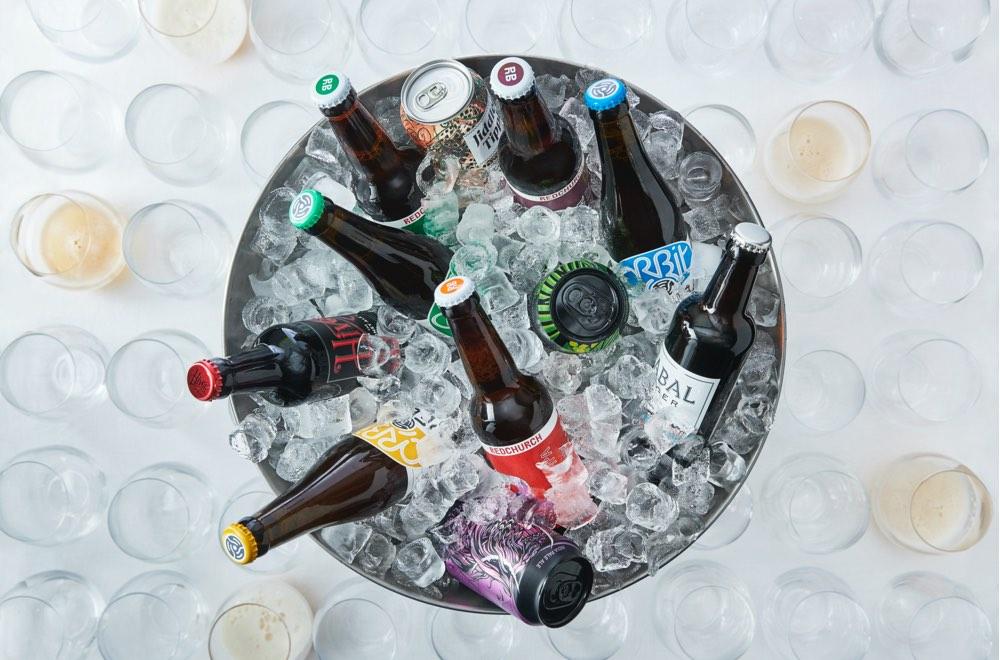 Bucket of beers in ice.