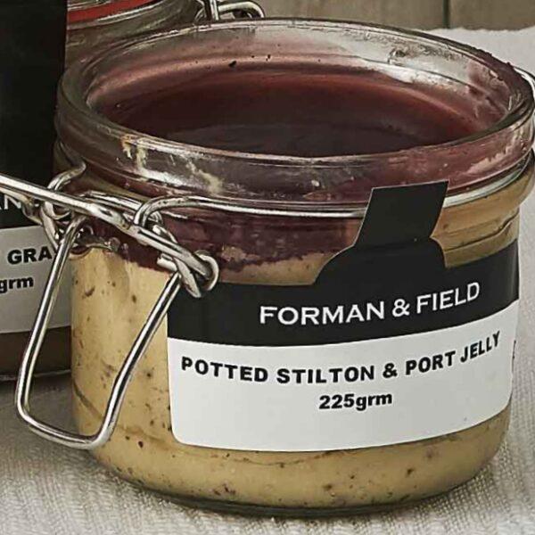Potted Stilton with Port Glaze